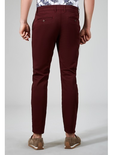 Avva Erkek  Yandan Cepli Basic Slim Pantolon B003556 Bordo